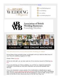 Your Herts and Beds Wedding magazine - March 2021 newsletter