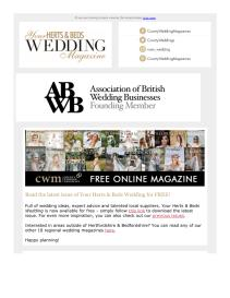 Your Herts and Beds Wedding magazine - September 2021 newsletter