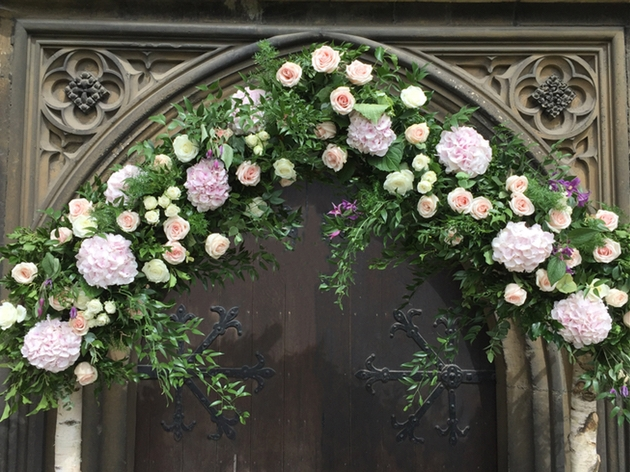 Check out this amazing flower arch by Michael Hilbrown Floral Design