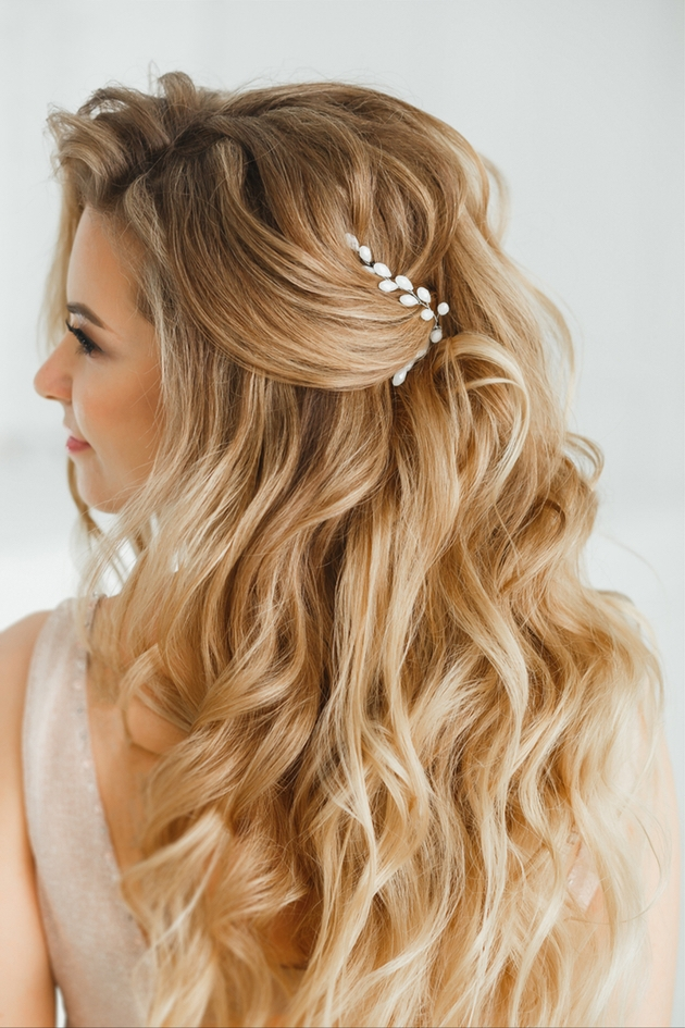 A beautiful bride with the perfect hairstyle