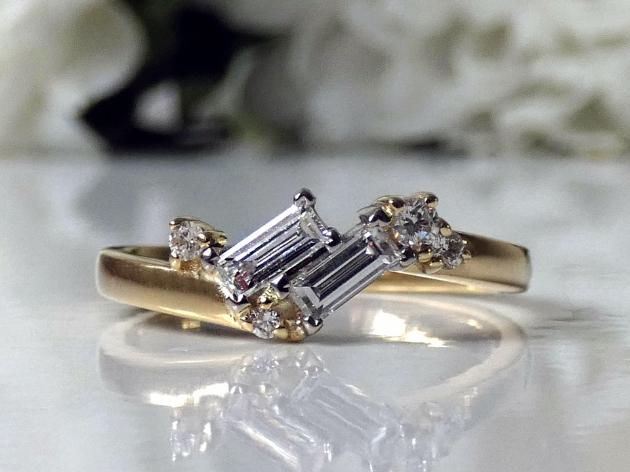 Vintage-inspired ring at Heulwen Lewis Bespoke