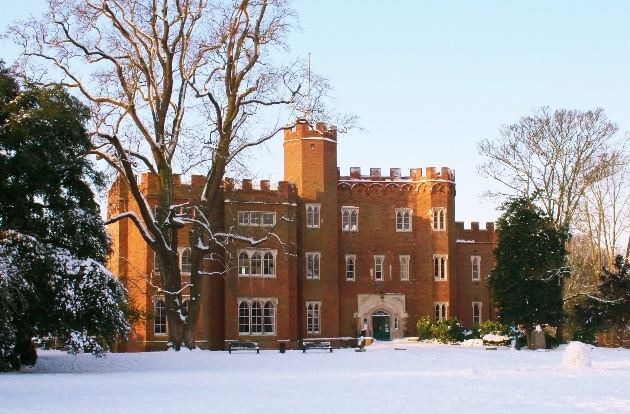 The beautiful exterior at Hertford Castle