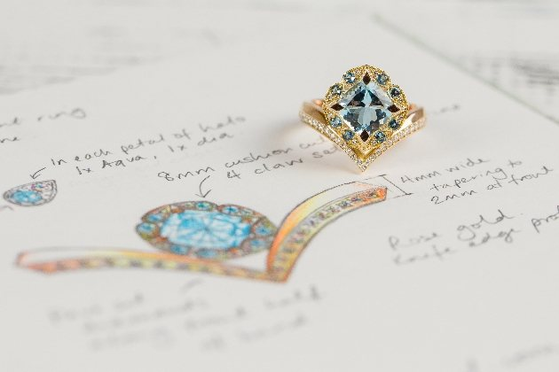 Stunning ring created by Jodie Gearing Bespoke Jewellery Design