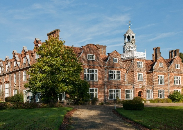 The beautiful exterior at  Rothamsted Manor in Hertfordshire