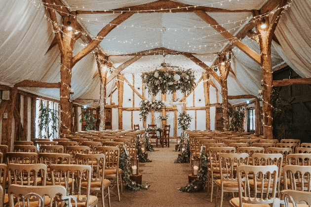 South Farm's rustic ceremony space